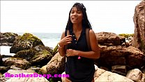 HD Heather Deep publicly squirts outdoors on the ocean