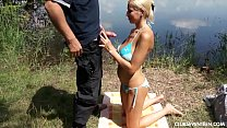 Busty teen babe gets pounded outdoors Vorschaubild