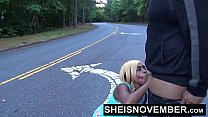 Msnovember Sucking Cock In Road Sloppy Blowjob