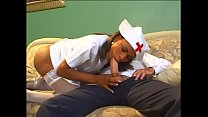 Black nurse rides white stud at the clinic after she examines him preview image