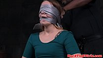 Bound bdsm babe weeps for release from rope preview image