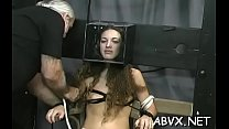 Legal age teenager delights with severe pleasure on her shaved pussy