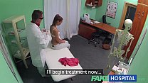 FakeHospital Nynpho brunette teen is back in the doctors office pornhub video