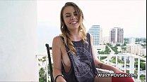 Fucking busty girlfriend on balcony thumbnail