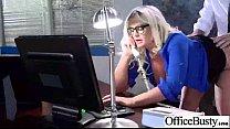 Slut Worker Girl (julie cash) With Big Melon Tits Banged In Office mov-20