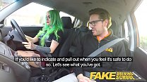 Fake Driving School Wild fuck ride for tattooed...