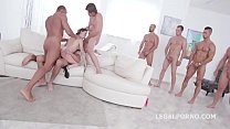 hq indian porn, 10 on 1 Gang Bang for ultra slut Gabriella Lati   10 Swallows! thumbnail