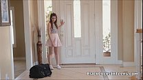 Hot perky teen rides a BBC pornhub video