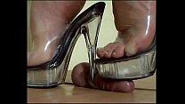 Mistress Arletta Clear Platform Ball Crush
