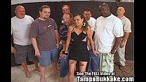 Bri & Paige's 2 Girl Tampa Bukkake Orgy Party!