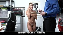 ShopLyfter-Blonde Thief Detained And Fucked By Mall Cop