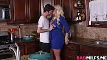 Horny mom and teen 3some fuck  the kitchen - 9Club.Top