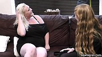 Wife leaves and he cheats with blonde bbw video