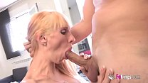 Blonde pregnant Russian Milf desperately needs money, What about this big cock? صورة