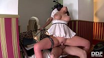 Maid Emma Leigh's Shaved Pussy Gets Wet When Hotel Guest Fucks Her Hardcore thumbnail
