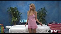 Super sexy 18 year old cutey with a gazoo gets screwed hard from behind by her massage therapist Thumbnail