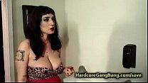 Huge natural breasts babe orgy fucked thumbnail