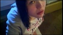 Emo girl 18 yrs sucking Cock video