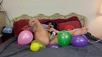 Balloon popping masturbation fetish