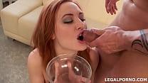 Sperm Junkie #2, Eva Berger swallows 17 cumshots after her first DAP GIO052 صورة