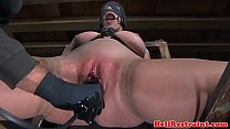 Bounded sub dildo fucked video