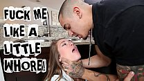 ABUSE ME - Young Teen Kirsten Lee Asks Her Boyfriend Bruno Dickemz To Fuck Her Hard preview image