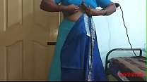 desi Indian  tamil aunty telugu aunty kannada aunty  malayalam aunty Kerala aunty hindi bhabhi horny cheating wife vanitha wearing saree showing big boobs and shaved pussy Aunty Changing Dress ready for party and Making Video
