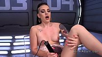 Fast fuckig machine breaks inked babe preview image