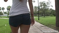 Two amateur chicks play lesbian games on the st...