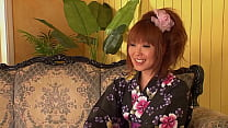 Follow the cute japanese redhead girl to the toilet and see how she get her well trimed pussy fucked till the cream slowly drops out