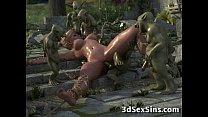 3D Elven Princess Gangbanged! Vorschaubild