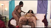 Very big threesome with BBW and a BBC - 9Club.Top