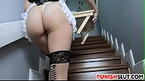 Trained Maid Punished Hard By Master