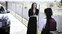 Latina teen schoolgirl captured and fucked by s...