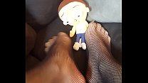 Giantess Finds Tiny Man Under Couch and Tramples and Crushes Him (Morty Plush)
