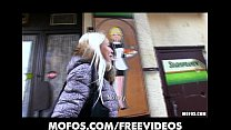 Platinum blonde Czech girl is picked up in the street and paid to fuck thumbnail