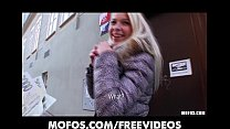 5246 Platinum blonde Czech girl is picked up in the street and paid to fuck preview