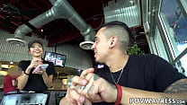 Young Asian waitress Vina Sky does anything for extra cash thumbnail