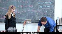 InnocentHigh- Cute Redhead fucks her teacher video