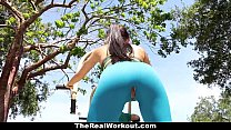 TheRealWorkout - Busty Crystal Fucked After Her Workout - 9Club.Top