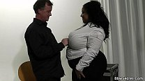 Mega-busty ebony bbw cheating