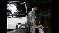 Busty Japanese wife taste father in law cock