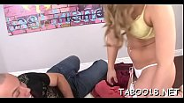 Seductive teenknows how to please penis with her magical hands