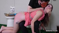 Sexy nympho was brought in butt hole madhouse for uninhibited treatment