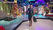 Ingrid Coronado Nalgotas en Vestido Verde Entallado VLA 25dic17 2