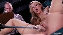 Blonde Pussy Machine Fucked Anal And Facial