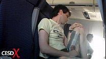Batendo uma no avião