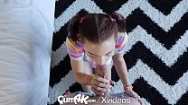 (Dvdrig) - CUM4K Pigtail step sister FILLED with warm dripping creampie thumbnail
