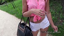 Euro teen cutie fucked in public for money Preview