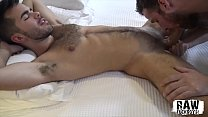 RawFuckBoys - Hunk breeds bareback after sucking big dick in jockstrap